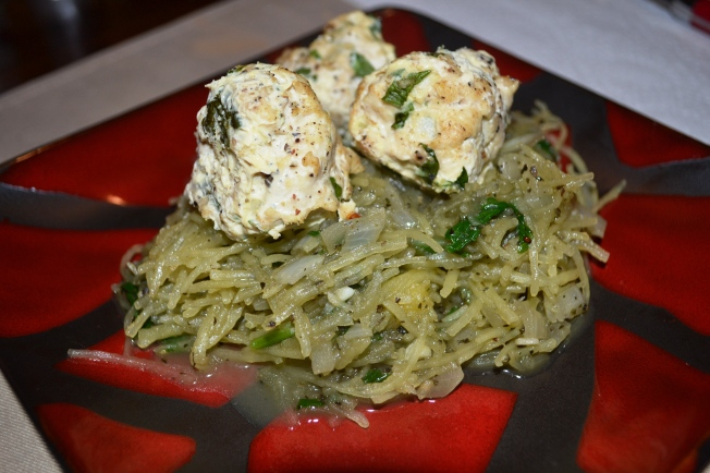 Turkey Meatballs and Spaghetti Squash
